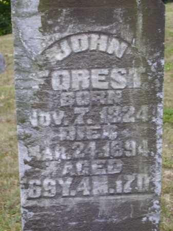 FOREST, JOHN - Meigs County, Ohio | JOHN FOREST - Ohio Gravestone Photos