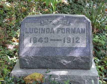FORMAN, LUCINDA - Meigs County, Ohio | LUCINDA FORMAN - Ohio Gravestone Photos