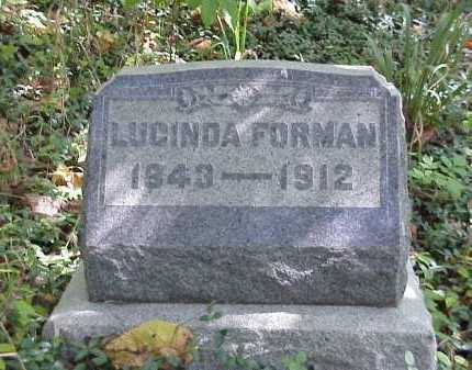 PHELPS FORMAN, LUCINDA - Meigs County, Ohio | LUCINDA PHELPS FORMAN - Ohio Gravestone Photos