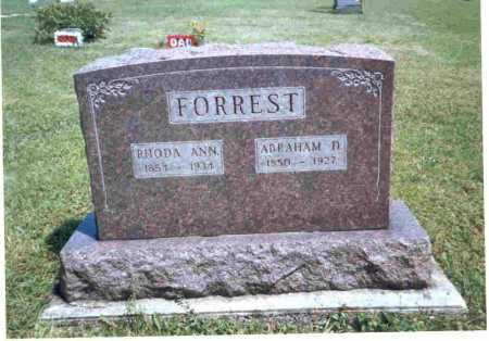 FORREST, RHODA ANN - Meigs County, Ohio | RHODA ANN FORREST - Ohio Gravestone Photos