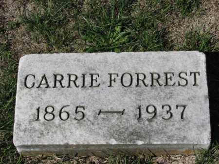 FORREST, CARRIE - Meigs County, Ohio | CARRIE FORREST - Ohio Gravestone Photos