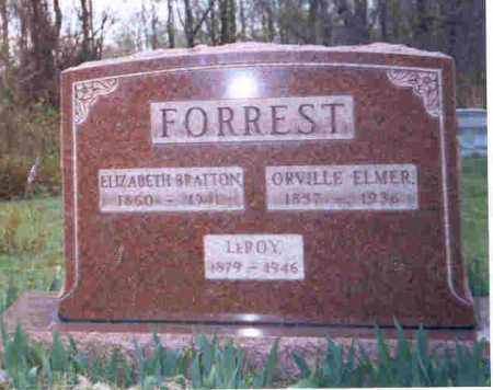 BRATTON FORREST, ELIZABETH - Meigs County, Ohio | ELIZABETH BRATTON FORREST - Ohio Gravestone Photos