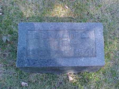 FOSS, DONALD E. - Meigs County, Ohio | DONALD E. FOSS - Ohio Gravestone Photos