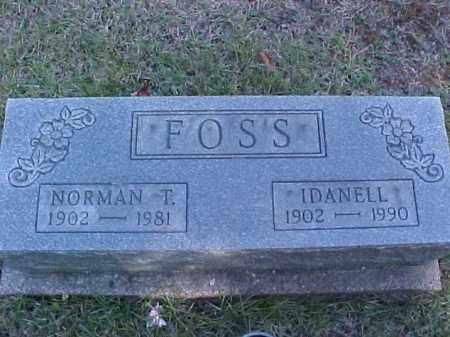 FOSS, NORMAN T. - Meigs County, Ohio | NORMAN T. FOSS - Ohio Gravestone Photos