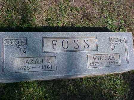 FOSS, WILLIAM - Meigs County, Ohio | WILLIAM FOSS - Ohio Gravestone Photos