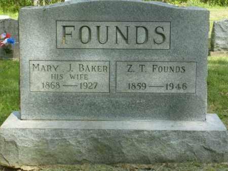 BAKER FOUNDS, MARY J. - Meigs County, Ohio | MARY J. BAKER FOUNDS - Ohio Gravestone Photos