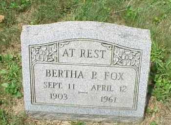 FOX, BERTHA P. - Meigs County, Ohio | BERTHA P. FOX - Ohio Gravestone Photos