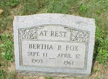 FOX, BERTHA P. - Meigs County, Ohio | BERTHA P. FOX - Ohio Gravestone Photos