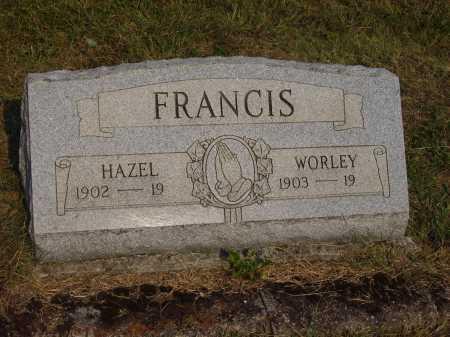 FRANCIS, WORLEY - Meigs County, Ohio   WORLEY FRANCIS - Ohio Gravestone Photos