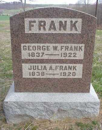 FRANK, JULIA A. - Meigs County, Ohio | JULIA A. FRANK - Ohio Gravestone Photos