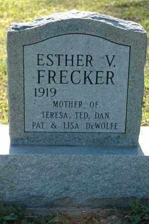 FRECKER, ESTHER VIRGINIA - Meigs County, Ohio   ESTHER VIRGINIA FRECKER - Ohio Gravestone Photos