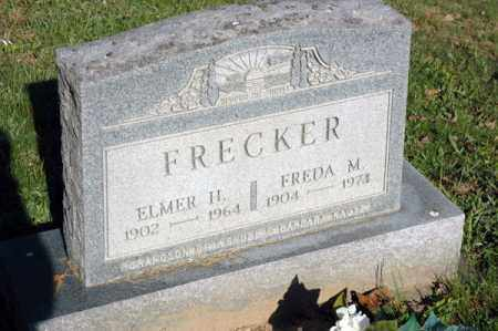 FRECKER, ELMER H. - Meigs County, Ohio | ELMER H. FRECKER - Ohio Gravestone Photos
