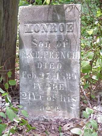 FRENCH, MONROE - Meigs County, Ohio   MONROE FRENCH - Ohio Gravestone Photos