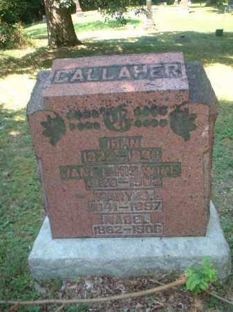 GALLAHER, MARY J. - Meigs County, Ohio | MARY J. GALLAHER - Ohio Gravestone Photos