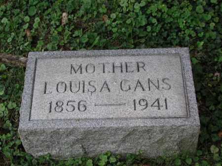 GANS, LOUISA - Meigs County, Ohio | LOUISA GANS - Ohio Gravestone Photos