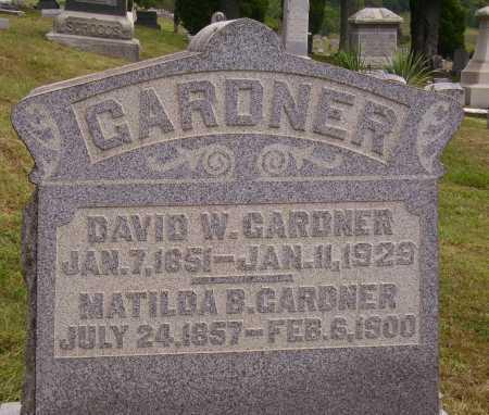 GARDNER, MATILDA BOICE - Meigs County, Ohio | MATILDA BOICE GARDNER - Ohio Gravestone Photos