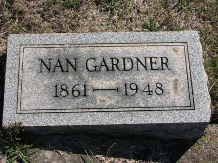 GARDNER, NAN - Meigs County, Ohio | NAN GARDNER - Ohio Gravestone Photos