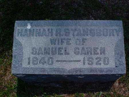 STANSBURY GAREN, HANNAH R. - Meigs County, Ohio   HANNAH R. STANSBURY GAREN - Ohio Gravestone Photos