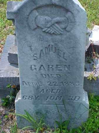 GAREN, SAMUEL - Meigs County, Ohio | SAMUEL GAREN - Ohio Gravestone Photos