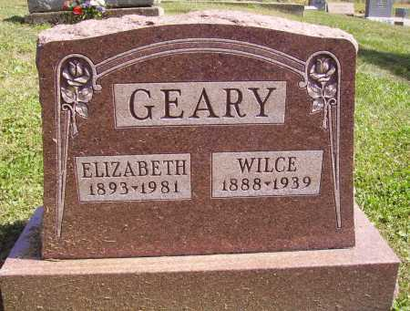 GEARY, WILCE - Meigs County, Ohio | WILCE GEARY - Ohio Gravestone Photos