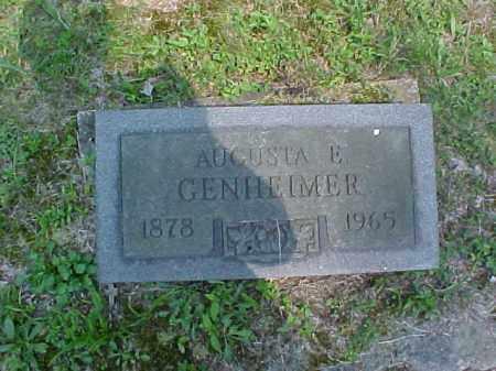 GENHEIMER, AUGUSTA E. - Meigs County, Ohio | AUGUSTA E. GENHEIMER - Ohio Gravestone Photos