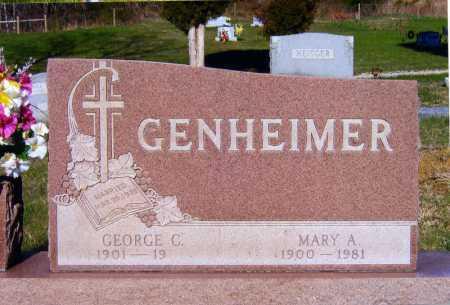 ROSE GENHEIMER, MARY A - Meigs County, Ohio | MARY A ROSE GENHEIMER - Ohio Gravestone Photos