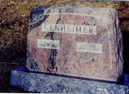 HEILMANN GENHEIMER, ELIZABETH SYBIL - Meigs County, Ohio | ELIZABETH SYBIL HEILMANN GENHEIMER - Ohio Gravestone Photos
