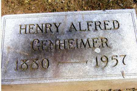 GENHEIMER, HENRY ALFRED - Meigs County, Ohio   HENRY ALFRED GENHEIMER - Ohio Gravestone Photos