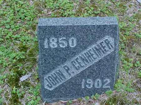 GENHEIMER, JOHN P. - Meigs County, Ohio | JOHN P. GENHEIMER - Ohio Gravestone Photos