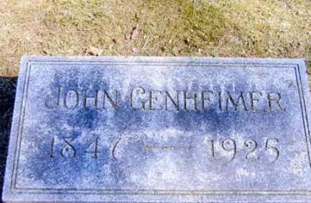 GENHEIMER, JOHN - Meigs County, Ohio | JOHN GENHEIMER - Ohio Gravestone Photos