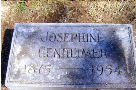 GENHEIMER, JOSEPHINE - Meigs County, Ohio | JOSEPHINE GENHEIMER - Ohio Gravestone Photos