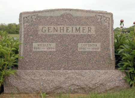 HEILMANN GENHEIMER, MARGARET LUCINDA - Meigs County, Ohio | MARGARET LUCINDA HEILMANN GENHEIMER - Ohio Gravestone Photos