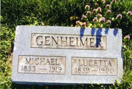 GENHEIMER, MICHAEL - Meigs County, Ohio | MICHAEL GENHEIMER - Ohio Gravestone Photos