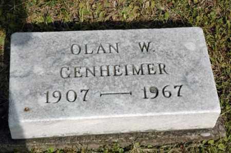 GENHEIMER, OLAN WAYNE - Meigs County, Ohio   OLAN WAYNE GENHEIMER - Ohio Gravestone Photos