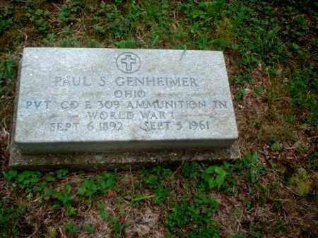 GENHEIMER, PAUL S. - Meigs County, Ohio | PAUL S. GENHEIMER - Ohio Gravestone Photos