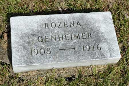 GENHEIMER, ROZENA - Meigs County, Ohio   ROZENA GENHEIMER - Ohio Gravestone Photos