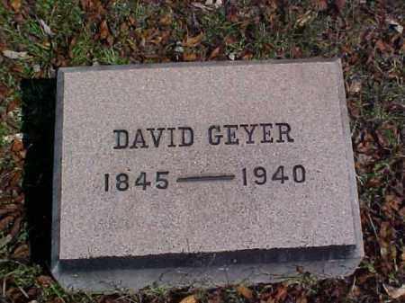 GEYER, DAVID - Meigs County, Ohio   DAVID GEYER - Ohio Gravestone Photos
