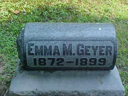GEYER, EMMA M. - Meigs County, Ohio | EMMA M. GEYER - Ohio Gravestone Photos