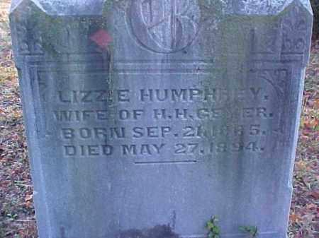 HUMPHREY GEYER, LIZZIE - Meigs County, Ohio   LIZZIE HUMPHREY GEYER - Ohio Gravestone Photos