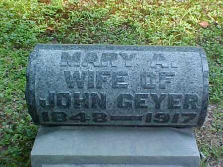 GEYER, MARY A. - Meigs County, Ohio   MARY A. GEYER - Ohio Gravestone Photos