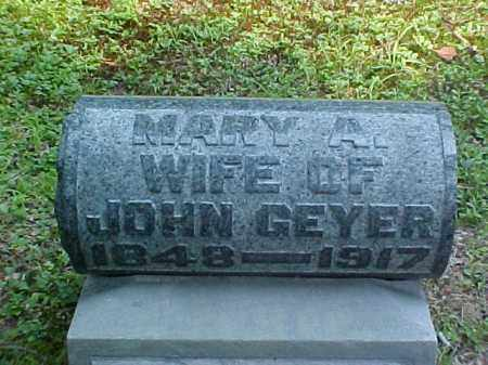 ASHWORTH GEYER, MARY A. - Meigs County, Ohio | MARY A. ASHWORTH GEYER - Ohio Gravestone Photos