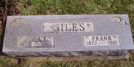 GILES, CORA L. - Meigs County, Ohio   CORA L. GILES - Ohio Gravestone Photos
