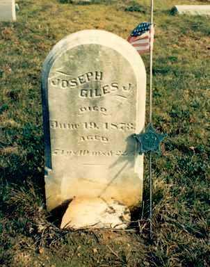 GILES, JOSEPH JR. - Meigs County, Ohio | JOSEPH JR. GILES - Ohio Gravestone Photos