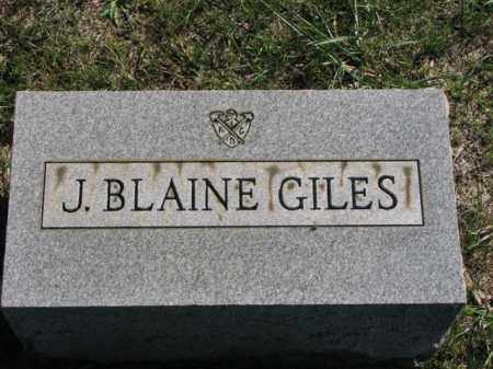 GILES, J. BLAINE - Meigs County, Ohio | J. BLAINE GILES - Ohio Gravestone Photos