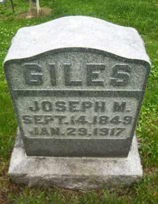 GILES, JOSEPH M. - Meigs County, Ohio | JOSEPH M. GILES - Ohio Gravestone Photos