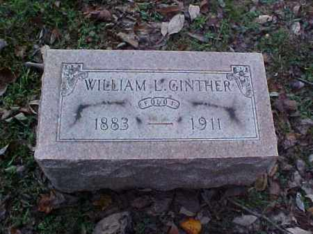 GINTHER, WILLIAM L. - Meigs County, Ohio | WILLIAM L. GINTHER - Ohio Gravestone Photos
