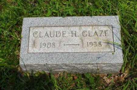 GLAZE, CLAUDE H. - Meigs County, Ohio   CLAUDE H. GLAZE - Ohio Gravestone Photos
