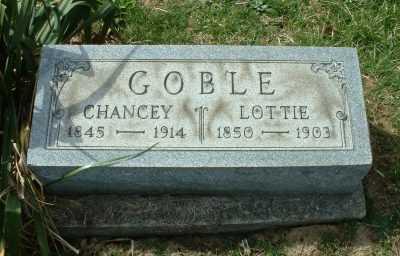 GOBLE, CHANCEY - Meigs County, Ohio | CHANCEY GOBLE - Ohio Gravestone Photos