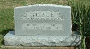 SMITH GOBLE, JENNIE - Meigs County, Ohio | JENNIE SMITH GOBLE - Ohio Gravestone Photos
