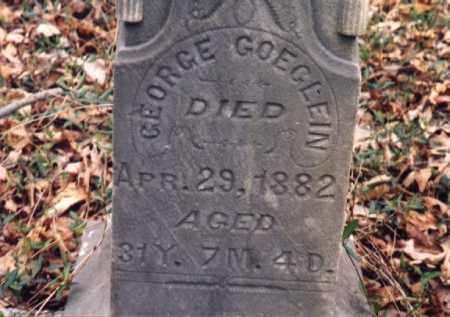 GOEGLEIN, GEORGE - Meigs County, Ohio   GEORGE GOEGLEIN - Ohio Gravestone Photos